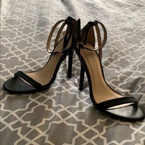 Shoes - Strappy black heels